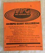 Vintage 1979 Music Programmers Guide Mpg Warner Brothers Columbia Records Rare