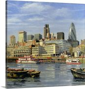 The City 2004 Canvas Wall Art Print Ships And Boats Home Decor