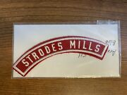 Bsa Strodes Mills Pa 1950and039s Red And White Community Strip Rws