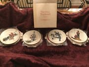 New In Org. Box Norman Rockwell Gorham 1974 Limited Ed. Four Seasons Wall Plates