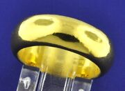 24k Pure 9999 Solid Yellow Gold Handmade Band Ring Size 5-12 31.10 Grams 1 Oz
