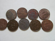 Lot Of Canada George V Small Cent Coin. Vf/ef/au 9 Pennies 1920-1936 Lc03