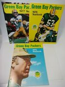 1975 1976 And 1977 Vintage Yearbook Green Bay Packers Lot   T