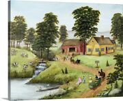 Millbrook Dairy Canvas Wall Art Print Countryside Home Decor