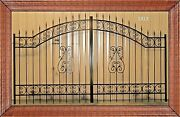 Veterans Discount Custom Driveway Gate 11and039 Or 12and039 Wd Steel Home Garden Security