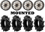 Kit 4 Efx Motohavok Tires 34x8.5-18 On System 3 St-3 Bronze Wheels 550