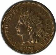 1876 Indian Cent, Au, Uncertified