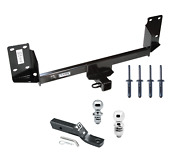 Trailer Tow Hitch For 07-18 Bmw X5 Dual Balls Package Drawbar + 1-7/8 And 2 Ball