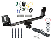 Trailer Tow Hitch For 07-18 Bmw X5 Complete Package W/ Wiring Kit And 1-7/8 Ball