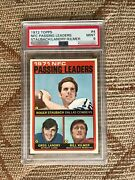 Roger Staubach 1972 Topps 4 Psa 9 Passing Leader 72t Cowboys Rc200 Sold 15000