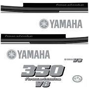 Yamaha 350 Four Stroke Die Cut Decals Outboard Engine Graphics Motor 350hp Grey