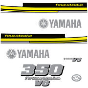 Yamaha 350 Four Stroke Die Cut Decals Outboard Engine Graphics Motor 350hp Yelow