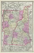 1887 Tunison Map Of Vermont And New Hampshire