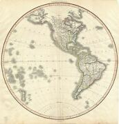 1812 Pinkerton Map Of The Western Hemisphere North America And South America