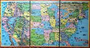 1901 Parker Brothers Map And Board Game Of The United States