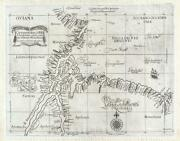 1647 Dudley Nautical Chart Or Maritime Map Of The Mouth Of The River