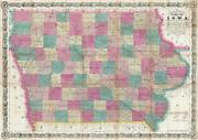 1866 Colton Sectional Pocket Map Of Iowa