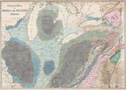 1843 Hall Geological Map Of The Central United States