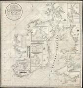 1834 Blachford Nautical Chart Or Maritime Map Of St. Georgeand039s Channel