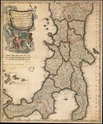 1704 Gerard Valk Map Of Southern Italy Kingdom Of Naples