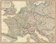 1818 Laurie And Whittle Case Map Of Central Europe