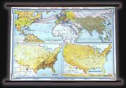 1940 Denoyer-geppert Wall Map Of Demographics And Immigration In The U.s.