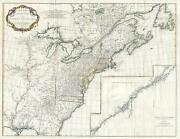 1755 Anville Map Of Lousiana New England Canada And Eastern North America