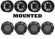 Kit 4 High Lifter Outlaw2 Tires 34.5x10.5-16 On Msa M40 Rogue Machined Ter