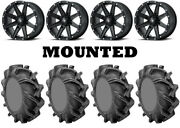 Kit 4 High Lifter Outlaw 3 Tires 31x9-16 On Msa M33 Clutch Matte Black Can