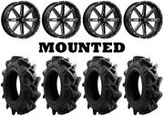 Kit 4 Efx Motohavok Tires 32x8.5-16 On Msa M41 Boxer Gloss Black Wheels 1kxp