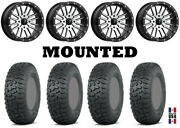 Kit 4 Itp Terra Hook Tires 30x10-14 On Msa M37 Brute Beadlock Machined H700