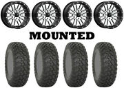 Kit 4 System 3 Rt320 Tires 35x9.5-15 On Msa M37 Brute Beadlock Machined Can