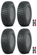 Four 4 Itp Terra Hook Atv Tires Set 2 Front 27x9-14 And 2 Rear 27x11-14