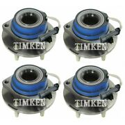 Front And Rear Wheel Bearing And Hub Assy Kit Timken For Pontiac Montana Sv6 Awd 05