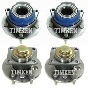 Front And Rear Wheel Bearing And Hub Assy Kit Timken For Pontiac Grand Prix Fwd