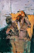 Untitled By Aron Kravits Oil And Collage On Paper 140x90 Cm Signed By Artist