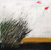 Flowers In The Wind By Salah Alkara Acrylic On Canvas 100x100 Cm Signed