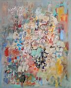 Untitled By Zahava Lupo Oil And Acrylic On Canvas 90x70 Cm Signed By Artist