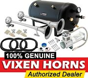 Train Horn Kit For Truck/car/pickup Loud System /5g Air Tank /200psi /2 Trumpets