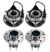 Front And Rear Wheel Bearing And Hub Assembly Kit Timken For Saab 9-3 Fwd 03-11