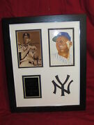 Mickey Mantle Matted And Framed Replica Autograph Photos 11x14 Sepia