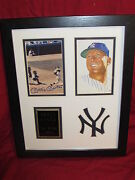 Mickey Mantle Matted And Framed Replica Autograph Photos 11x14 Home Run Swing