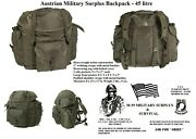 Austrian Military Surplus 45l Backpack O.d. New Old Stock