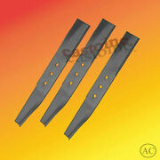 3 Mower Blades Fit Bolens 42and039and039 Cut Center Mount Mowers 1727926 172-7926