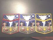 Oa Ktemaque Lodge 15 2009 Noac Set Of Three Two Piece Sets 9 Of Only 25 Sets