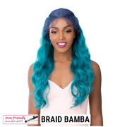 Itand039s A Wig Lace Front Iron Friendiy Synthetic Swiss Lace Crown Braid Wig Bamba