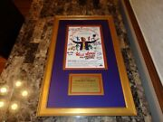 Willy Wonka And The Chocolate Factory Cast + 7 Signed Movie Poster Gene Wilder Psa
