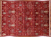 Gabbeh Hand Knotted Wool Tribal Area Rug 5' 7 X 7' 9 - Q3095