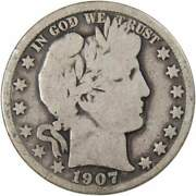 1907 O Barber Half Dollar Ag About Good 90 Silver 50c Us Type Coin Collectible