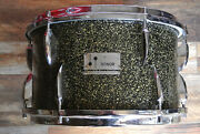 60's Sonor 13 Black Galaxy Sparkle Teardrop Tom For Your Metric Drum Set E38